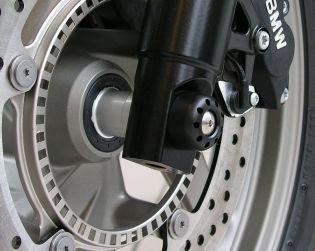 Front wheel axle slider