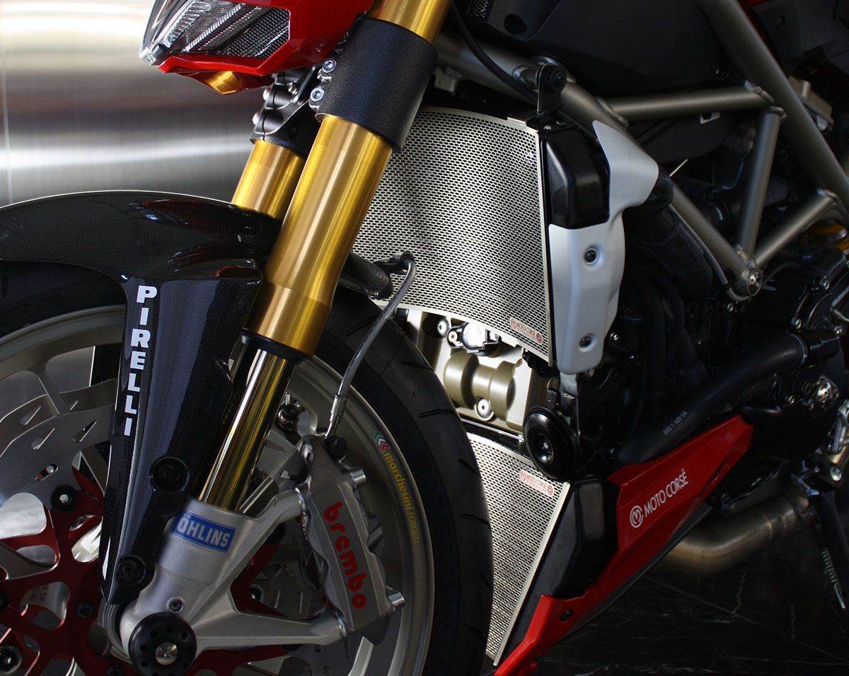 Protezione radiatore superiore in titanio Ducati Streetfighter