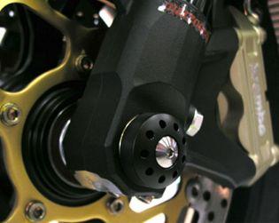 Slider protezione perno ruota anteriore con viti in titanio