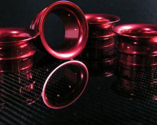 CNC air funnels kit (N.4) red colour