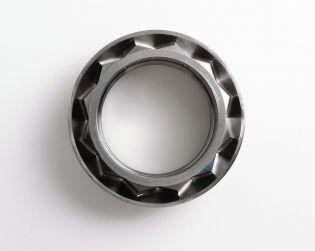 Billet titanium rear wheel nut