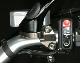Mirror holder clamp for Brembo radial brake master cylinder