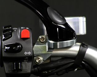 Mirror holder clamp for Brembo radial clutch master cylinder