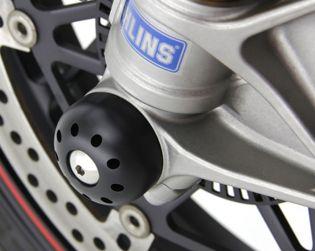 Slider perno ruota anteriore CNC con viti titanio