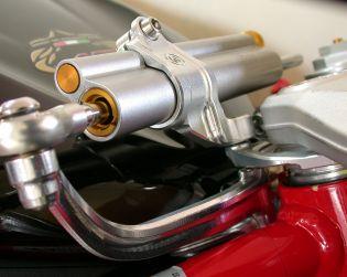 Complete Ohlins steering damper kit (with linear damper and support)
