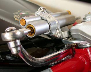 Ohlins steering damper installation kit (Ohlins damper not included)