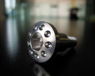 Titanium side stand screw