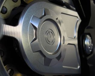 Machined from solid front sprocket cover
