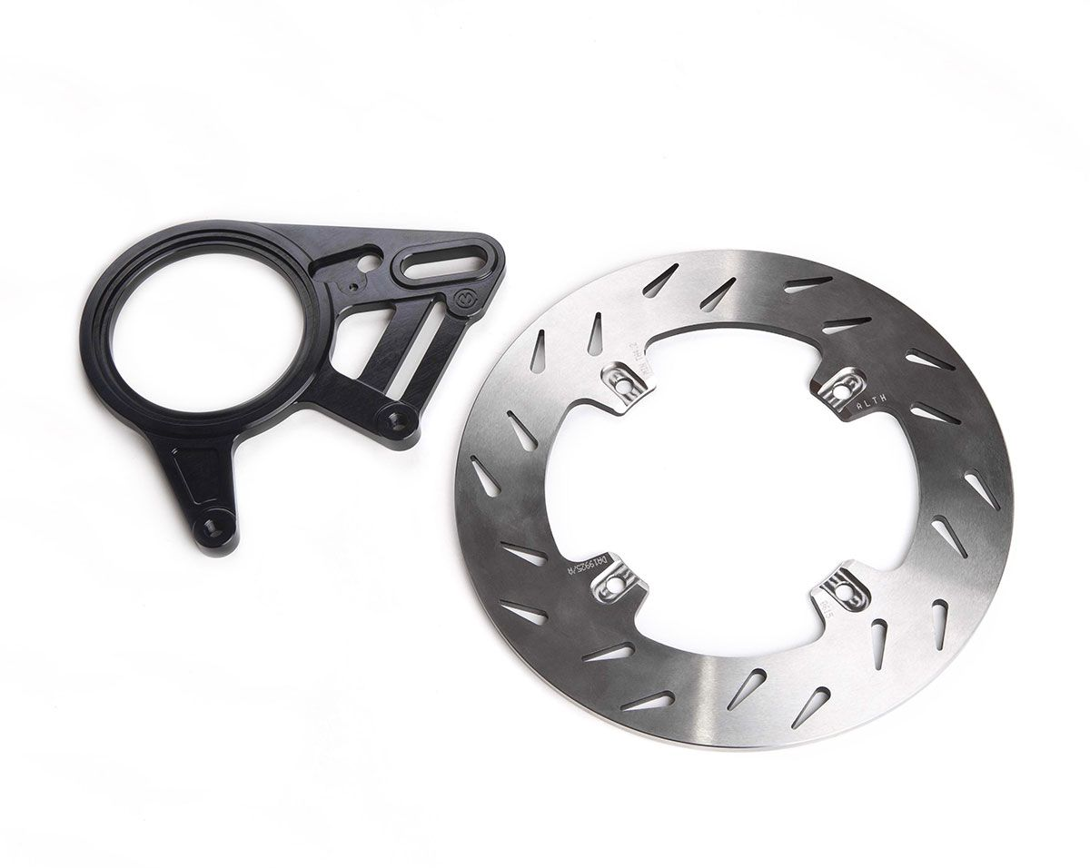 Complete rear brake disc kit with Brembo Super Sport casted caliper
