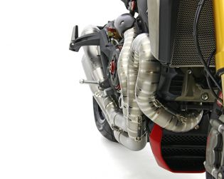 "Titanium full exhaust system Motocorse ""Due Gemelli Dvxi"" lobster tail"
