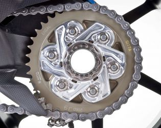 Machined from solid Alluminium sprocket carrier