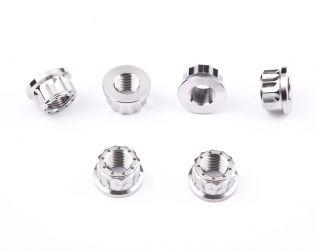 Titanium rear sprocket carrier nuts kit (Nr.6)