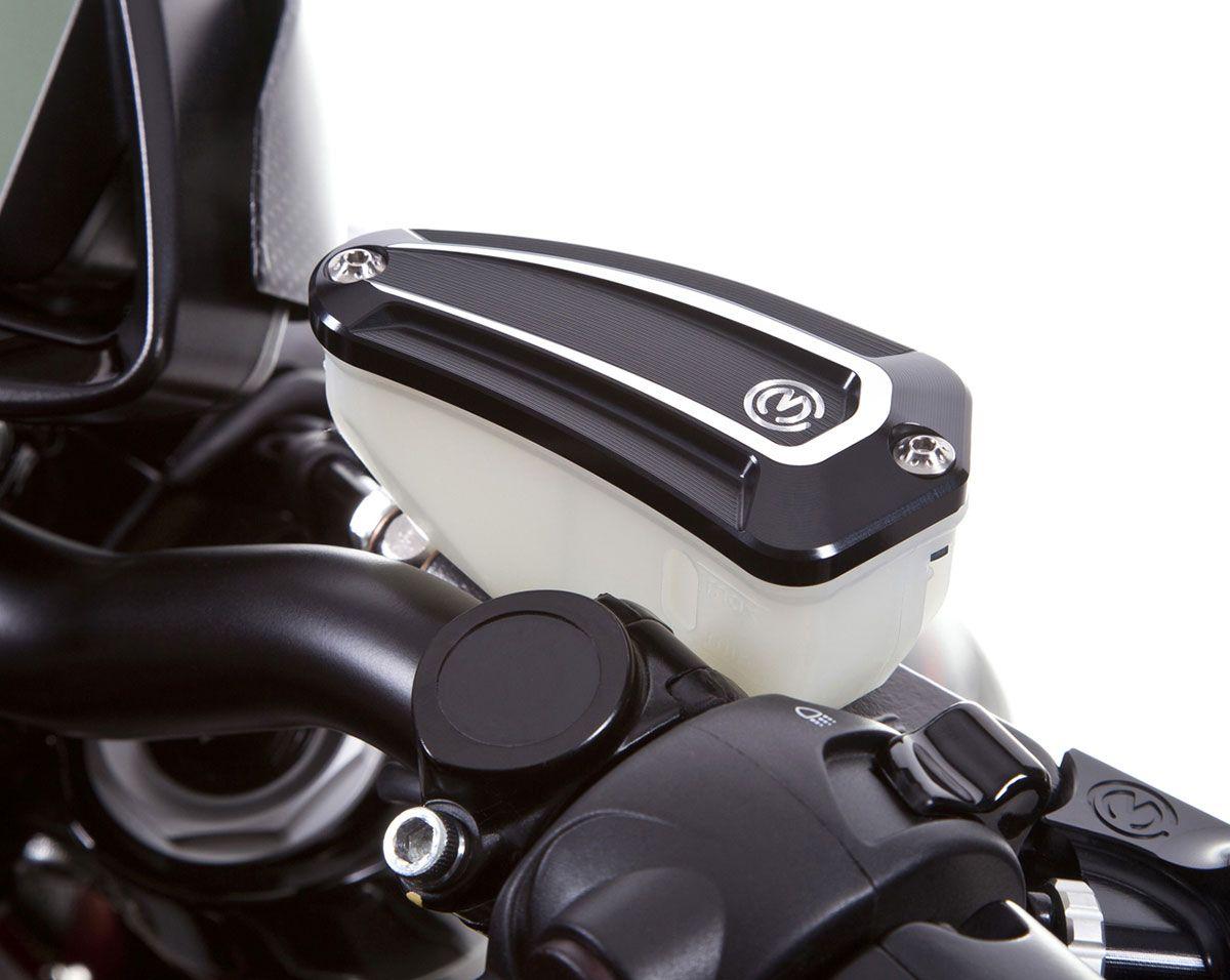 Coperchio New Design con viti in titanio per vaschetta olio pompa freno originale Nissin.