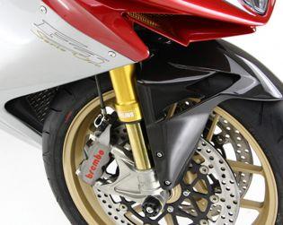 Slider perno ruota anteriore con viti in titanio per F3 Serie Oro