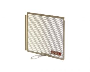 Titanium oil radiator protection screen