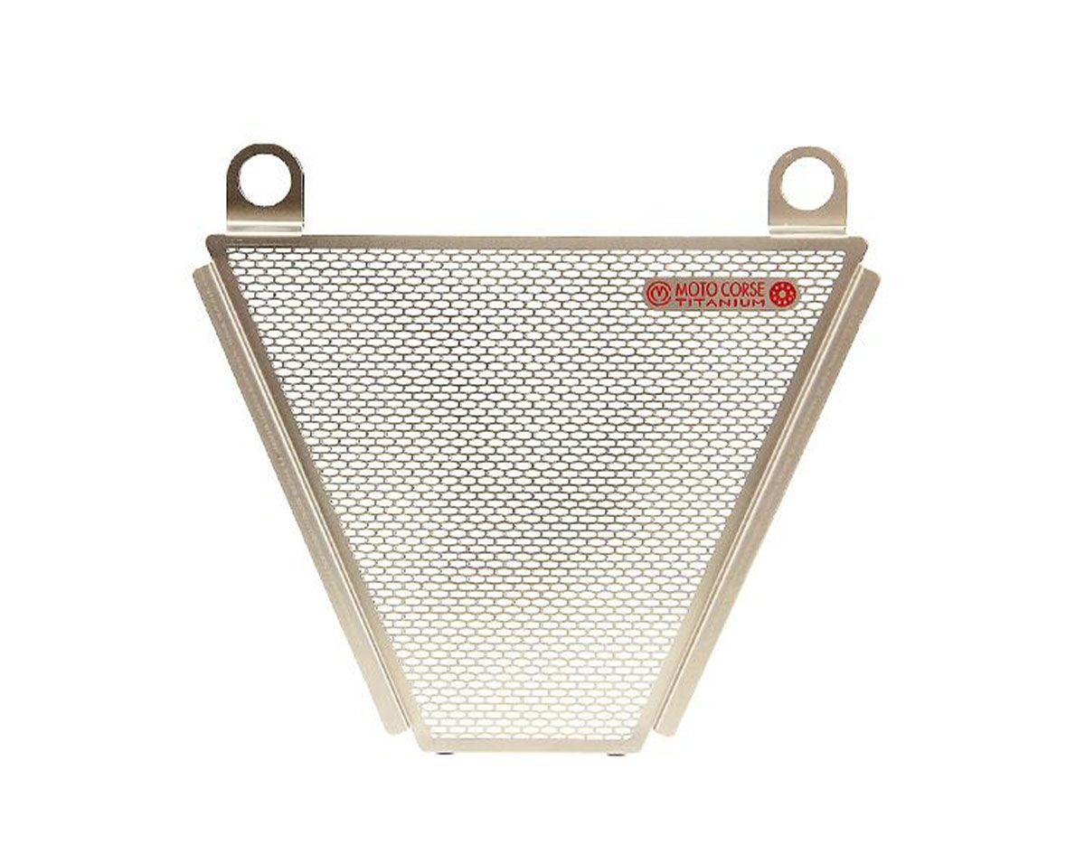 Titanium oil radiator protection screen