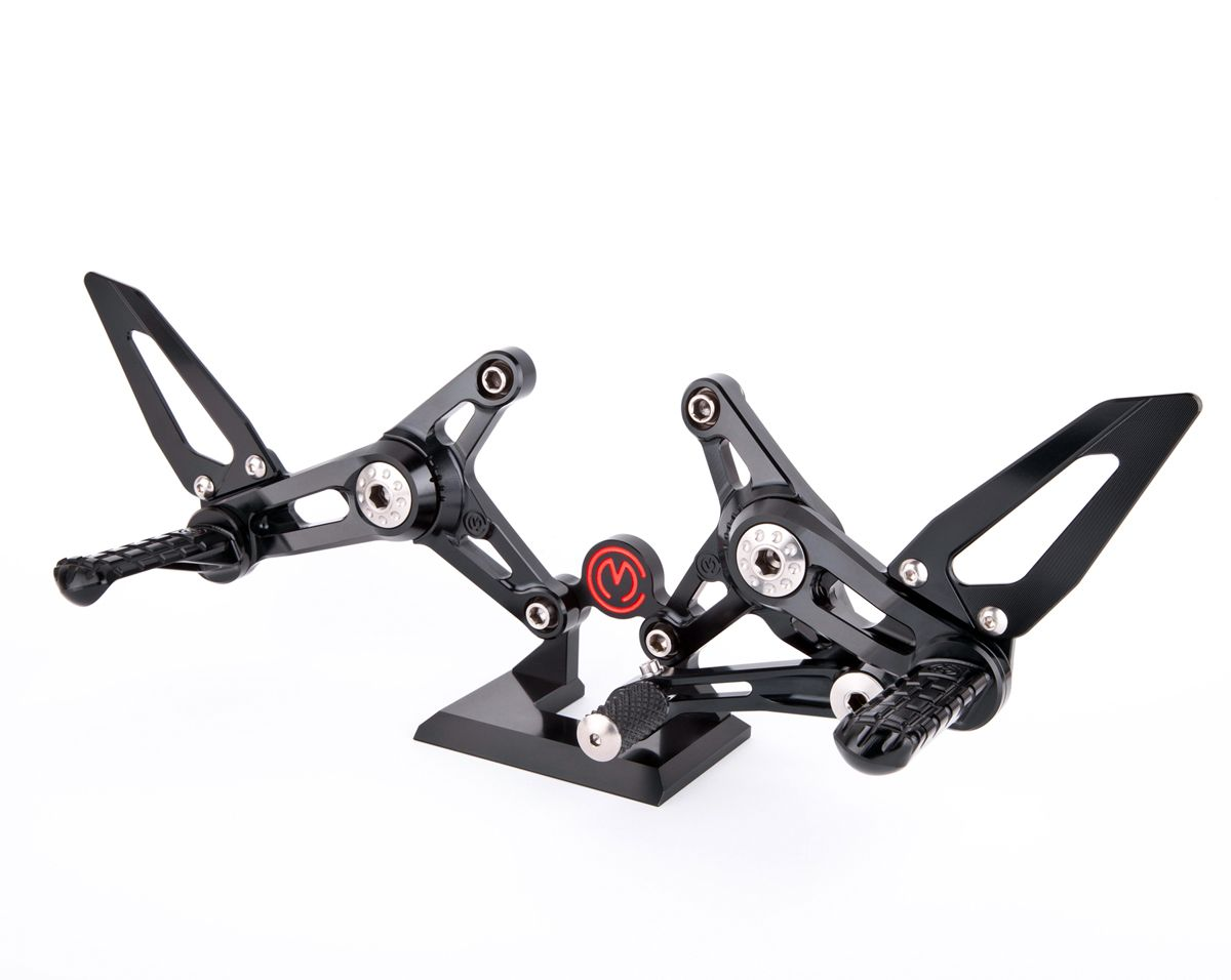 Machined from solid complete riding adjustable footpegs kit Brutale 800 MY2016 EURO4