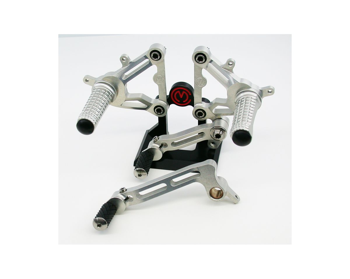 Machined from solid complete riding adjustable footpegs kit
